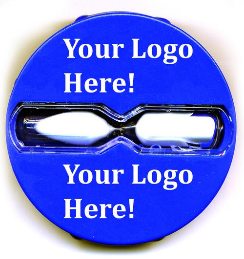 Our custom silk imprint shower timer - your logo here!