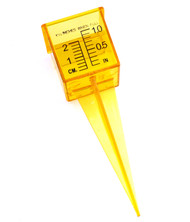 "1.5"" Rain and Sprinkler Gauge Wide Mouth Bright Yellow Outdoor Measuring Tool"