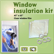 Window Insulation Shrink Plastic Clear Film Storm Kit | 4 pack