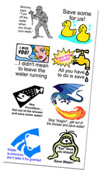 Fun Water Saving Message Temporary Tattoos | Conservation and Educational Product for all Ages