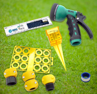 Basic Lawn and Garden Outdoor Water Saving Eco-Kit  Hose Nozzle | Rain Gauge | Hose Repair