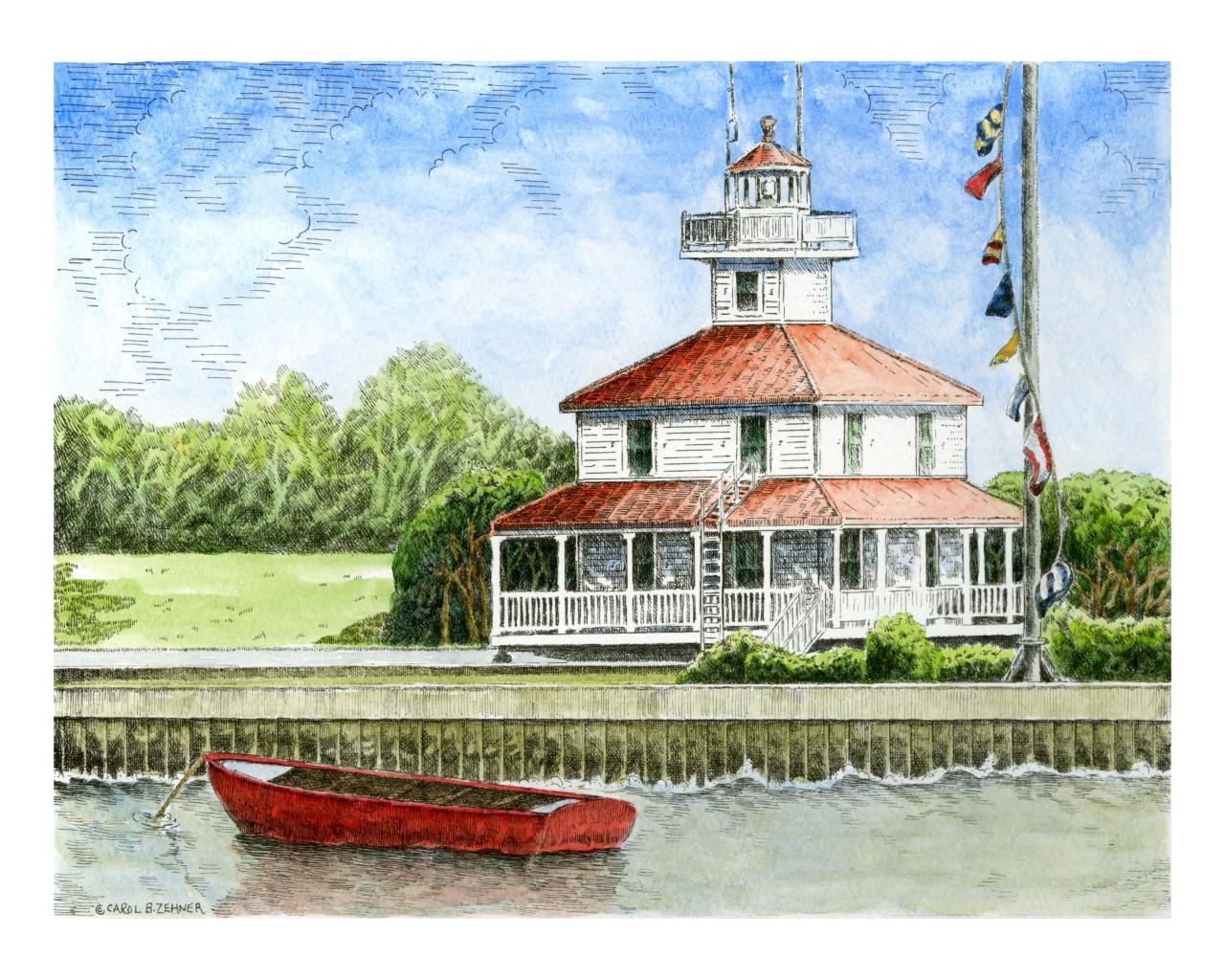 New Canal Lighthouse Carol Zehner Art