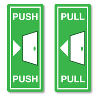 Push and Pull Door Signs Stickers
