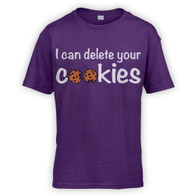 I Can Delete Your Cookies Kids T-Shirt