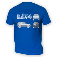 Rav4 Blueprint Mens T-Shirt