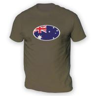 Australian Flag Mens T-Shirt