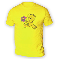 Cute Flower Bear Mens T-Shirt