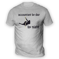 Accountant by Day Pole Dancer by Night Mens T-Shirt
