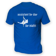 Assistant by Day Pole Dancer by Night Mens T-Shirt