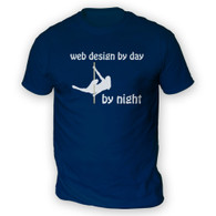 Web Design by Day Pole Dancer by Night Mens T-Shirt