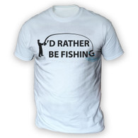 I'd Rather Be Fishing Mens T-Shirt