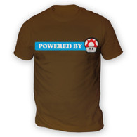 Powered By Mushroom Mens T-Shirt