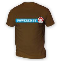 Powered By Mushroom Mens T-Shirt
