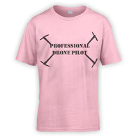 Professional Drone Pilot Kids T-Shirt