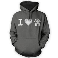 I Love House Music Hoodie