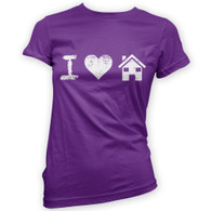 I Love House Music Woman's T-Shirt