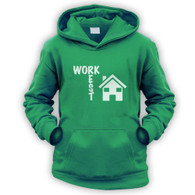 Work Rest House Music Kids Hoodie