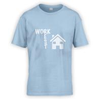 Work Rest House Music Kids T-Shirt
