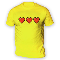 Trio of 16 Bit Hearts Mens T-Shirt