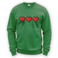 Trio of 16 Bit Hearts Sweater