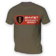 Skynet Resistance Member Mens T-Shirt