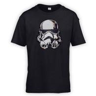 Battle Damaged Helmet Kids T-Shirt