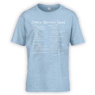 List of Zombie Rules Kids T-Shirt