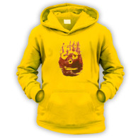 Volleyball Hand Print Kids Hoodie