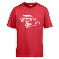 Ratlook Hot Rod Pickup Kids T-Shirt