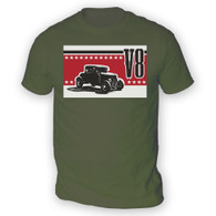 V8 Coupe Hot Rod Mens T-Shirt