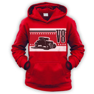V8 Coupe Hot Rod Kids Hoodie