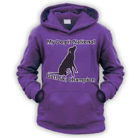 My Dog is Butt Ski Champ Kids Hoodie