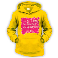 Eat Glitter and Sparkle Kids Hoodie