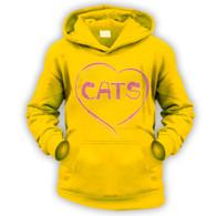 Love Cats Kids Hoodie