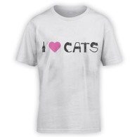 I Love Cats II Kids T-Shirt