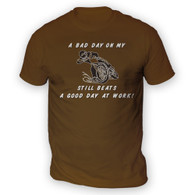 Bad Day On My Motocross Beats Work Mens T-Shirt