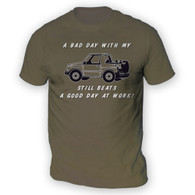 Bad Day With My Vitara Beats Work Mens T-Shirt