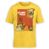 Planet of the Pugs Kids T-Shirt