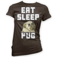 Eat Sleep Pug Womans T-Shirt