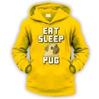 Eat Sleep Pug Kids Hoodie