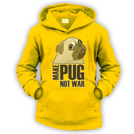 Make Pug Not War Kids Hoodie