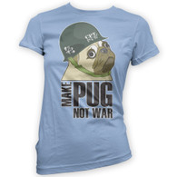 Make Cpt Pug Not War Womans T-Shirt