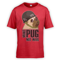 Make Cpt Pug Not War Kids T-Shirt