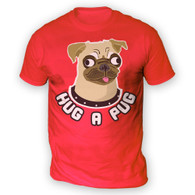 Hug a Pug Mens T-Shirt
