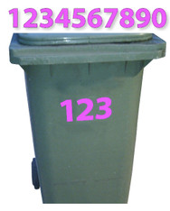 Wheelie Bin / Race Numbers Stickers