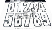 Dye Paintball loader number stickers for your paintball hopper.