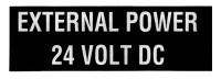 External Power - 24V DC
