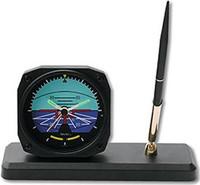 Aviation Clock/ Desk Pen Set - Horizon