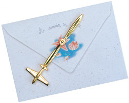 24 kt Gold-Plated Airplane Letter Opener AN-LO