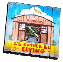 MA-IR I'd Rather Be Flying Fence Magnet